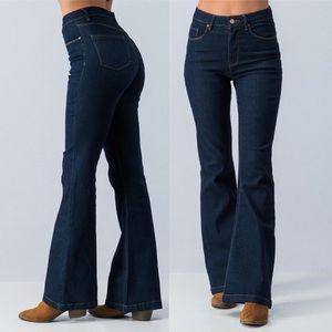 Pants - Retro Romance High Rise Boot Cut Jeans